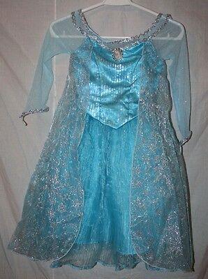 New w/Tags Disney Parks Authentic Frozen Elsa Dress/Costume - Girls Size S (6)