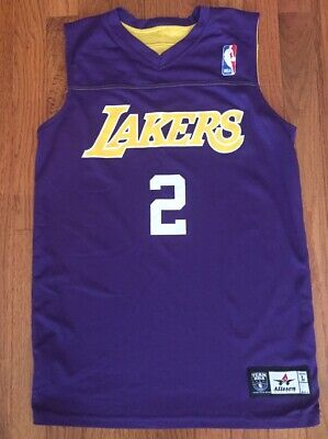 Vintage Derek Fisher Los Angeles Lakers Reversible Practice Jersey-Youth Large