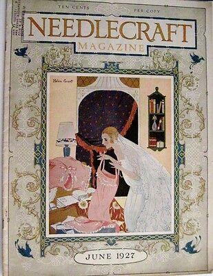 "Vintage June 1927 ""Needlecraft Magazine"" - Darling Cover by Helen Grant *"