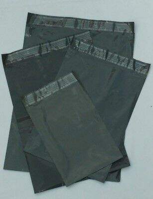 50 Grey 60mu Mailing BAGS Mixed 4 Sizes POSTAL ENVELOPES 8.5x14 9x12 10x14 12x16