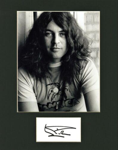 Ian Gillian of Deep Purple hand signed cut signature in an 11x14 matte display