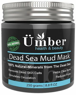 - Dead Sea Mud Mask for Face and Body Skin Natural Cleanser by Umber NYC - 8.8 OZ