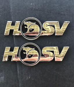 2 x HSV CHROME Clubsport Holden VE Badge rear Boot lid side skirt R8 SENATOR