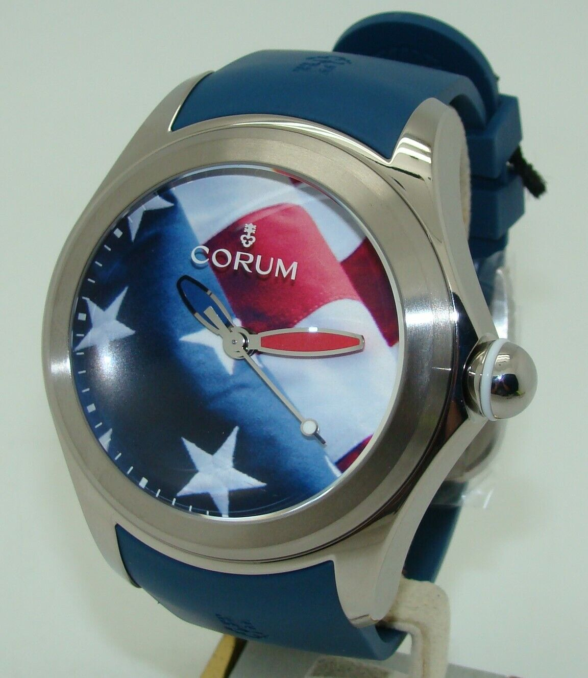 Corum Big Bubble 52mm Automatic Limited Edition American USA Flag Mens Watch NEW - watch picture 1