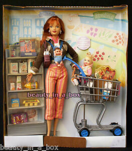 Shopping Fun Midge & Nikki ~ NO BOX ~ Happy Family Barbie Doll Shopping Cart