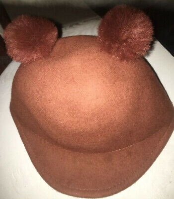 Zara Accessories Women's Cat Animal Ear Solid Brown Tan Wool Fashion Hat Cap
