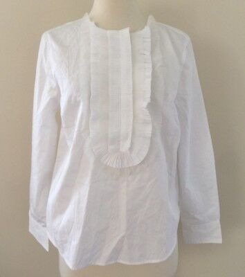 COLLECTION THOMAS MASON FOR JCREW RUFFLE-FRONT POPOVER 8 F5840 $198 NEW