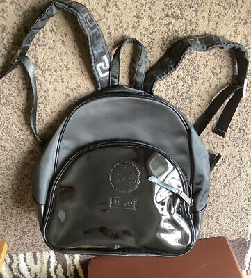 Versace Parfume Black Backpack New Without Tags