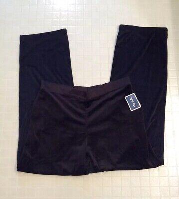 NEW Jones New York Size M Black Lounge Pants Stretch Elastic Waist Pull On NWT Jones New York Elastic