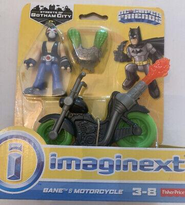 Imaginext Batman Streets Of Gotham City Bane & Motorcycle DC Super Friends New