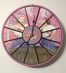 RARE 2002 ❤️ I Love Lucy ❤️ Articulated MOTION 3 Scene Talking Wall Clock WORKS!