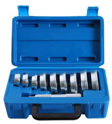 10pc Bearing Race and Seal Driver Set | Automotive Bushing Installer Remover (Removable Seal)