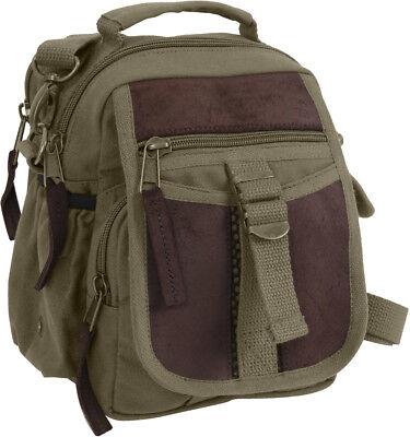 Compact Pouch Olive (Olive Drab Mini Compact Multi Pocket Travel Shoulder Bag with Shoulder Strap )