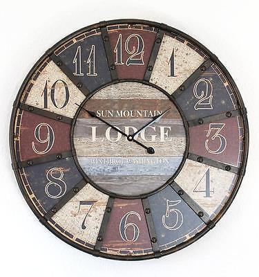 Reloj de Pared Lodge Shabby 84641 Loft Diámetro 60CM Diseño Vintage
