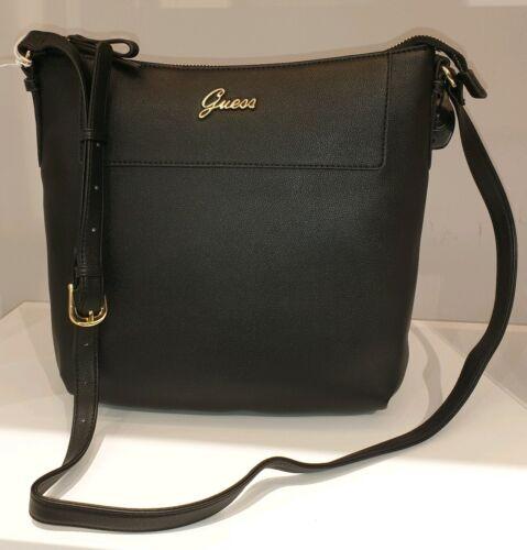 Neu GUESS Handtasche schwarz Damen Geschenk Weihnachten Schulter top Leder