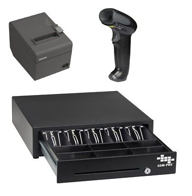 Pos Hardware Bundle For Square Stand - Cash Drawer Receipt Printer Scanner