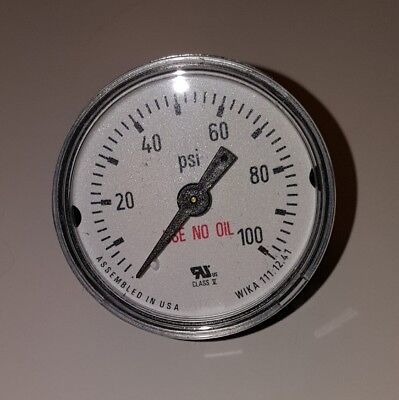 Wika Pressure Gauge 111.12 1.5 100 Psi 18 Npt Cbm 4209383 New Old Stock