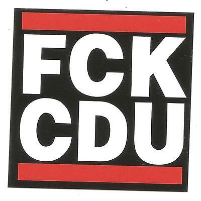 50x FCK CDU Aufkleber Punk Fun Anti Merkel Gegen CDU Anti CDU Anti Nazi protest segunda mano  Embacar hacia Argentina