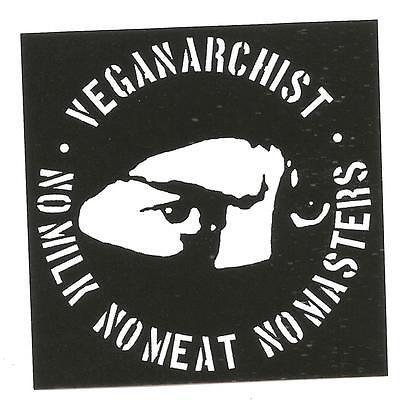 25 Veganarchist Aufkleber stickers Punk HC sXe Vegan Animal Liberation Tofu ALF