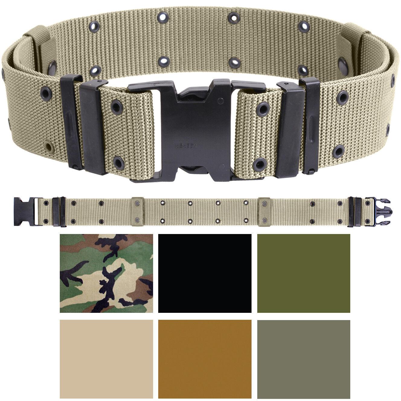 Military Pistol Belt Nylon Tactical Web Utility Duty ALICE Marine Corps GI Type Belts