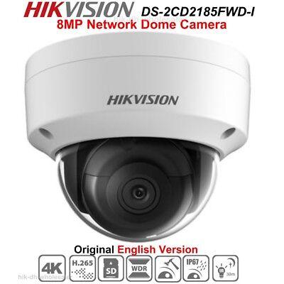 4k Hikvision Ds-2cd2185fwd-i 8mp Ip Security Camera H.265 Wdr Ir30m Ip67 Poe