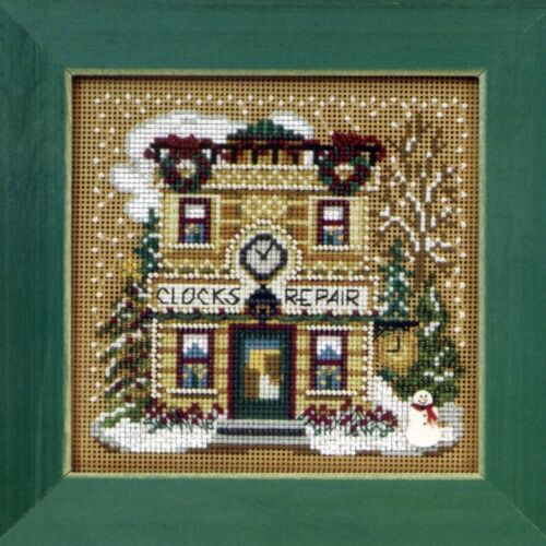 Cardinal Forest Beaded Counted Cross Stitch Kit Mill Hill 2010 Buttons Beads Winter MH140301