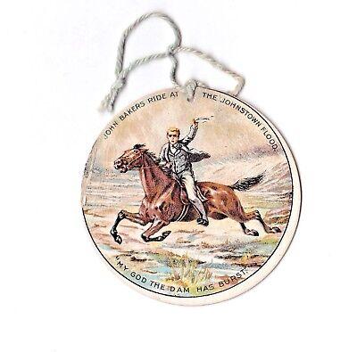 Souvenir Badge For The Johnstown Flood Coney Island