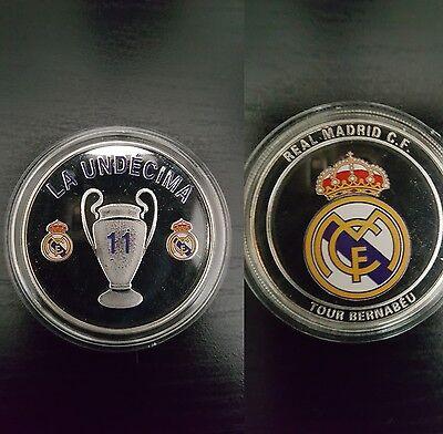 Real Madrid Commemorative Coin Champions League La Undecima 11th Cup