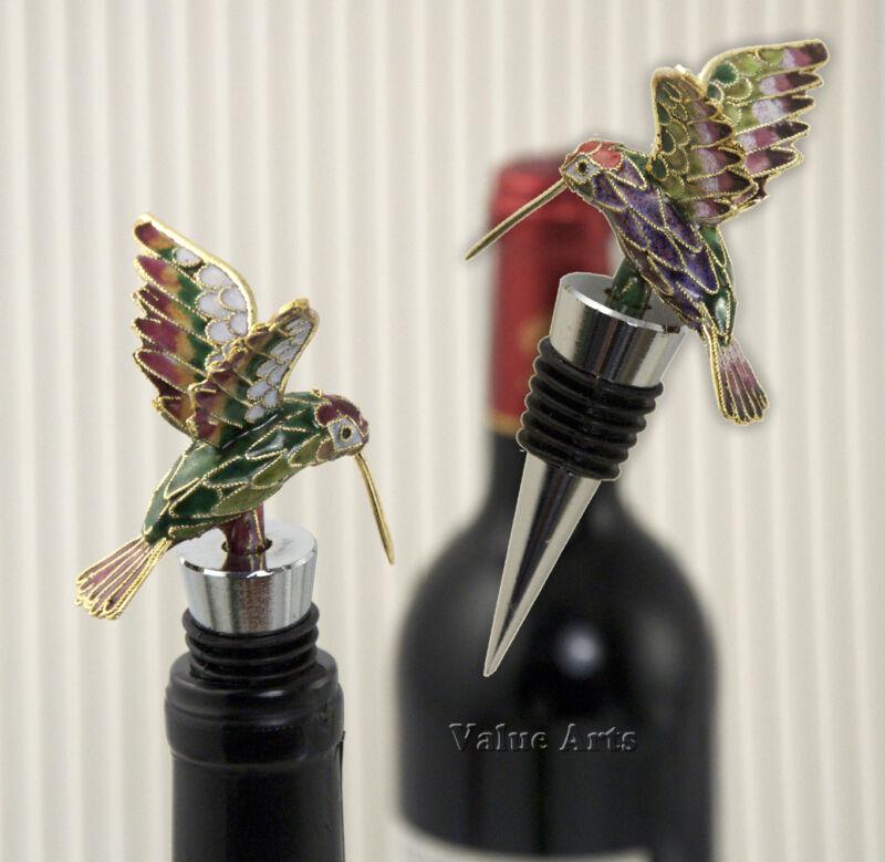 Cloisonne Hummingbird Bottle Stopper