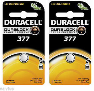 Duracell-377-SR66-SR6265W-1-5V-Watch-Battery-for-Bulova-Seiko-Citizen-Vinnic-2PK