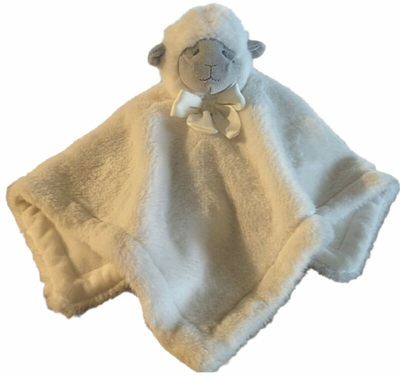 POTTERY BARN KIDS Baby Lamb Lovey Monique Lhuillier Thick Plush Security Blanket