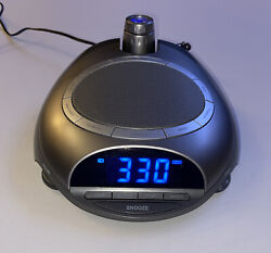 Homedics Sound Projector Clock AM/FM Radio 6 Nature Sound Sleep Therapy SS-4500