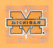 Michigan Wolverines Iron on Patch