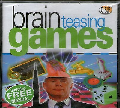 BRAIN TEASING GAMES | 25 different games | Windows 95 98 XP | 7 8 10 see listing