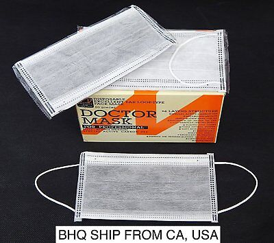 Disposable Charcoal Earloop Face Mask W Activated Carbon Filter 4 Ply 50box