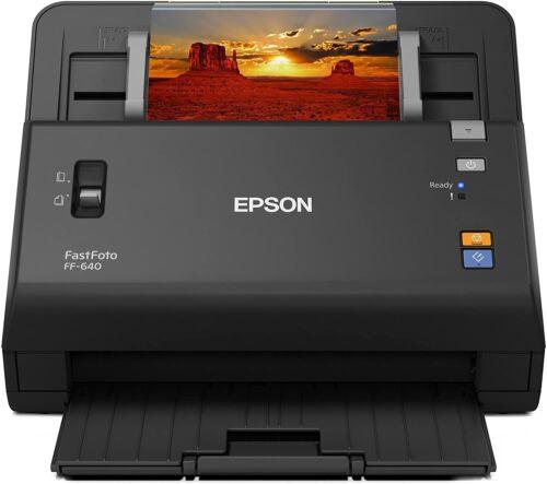 Epson FastFoto FF-640 High-Speed Photo Scanner - Black
