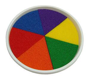 Large Paint & Inking Pad  6 colours Rainbow
