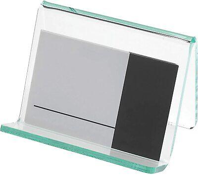 Lorell Acrylic Transparent Green Edge Business Card Holder -1 Each- 80657