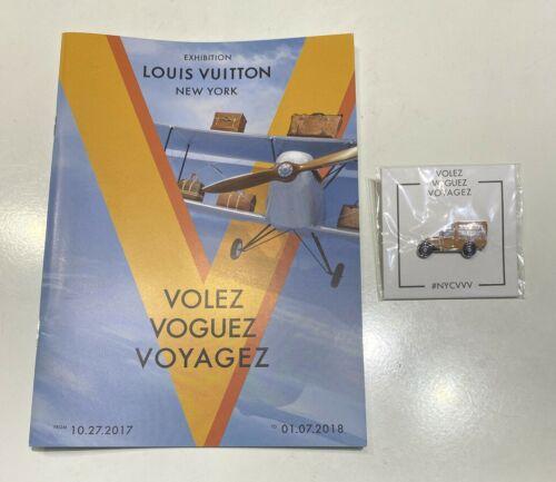 ~~ Louis Vuitton NY Exhibition Volez Voguez Voyagez Program Car Pin 2017 2018