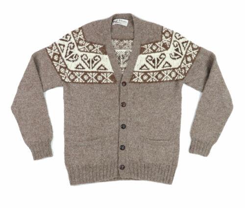 "VTG Fotrama Women XS Small 37"" 100% Alpaca Wool Cardigan Sweater Button Grandpa"