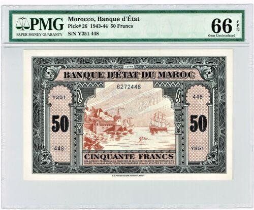Morocco: Mar. 1, 1944 50 Francs Banque d