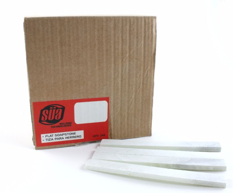 Flat Soapstone, French Chalk, Metal Marker for Welding, Engineering (144 pkg)