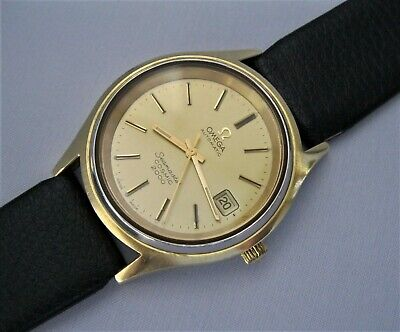 EXCEPTIONAL Mans 197O's OMEGA SEAMASTER COSMIC 2000 Automatic Solid Gold Capped