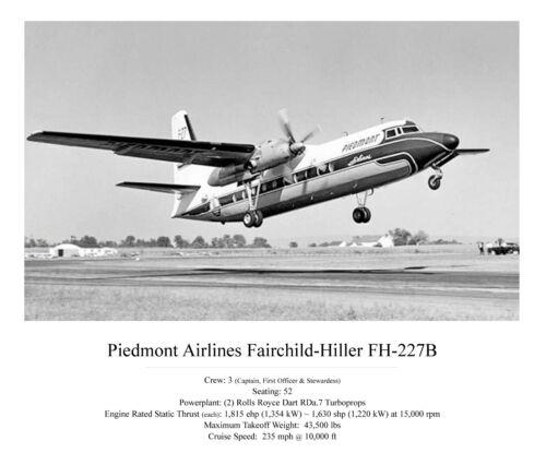 "Piedmont Airlines Fokker F-27 ((16""x20"")) Print"