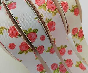 2-x-metres-gorgeous-floral-grosgrain-ribbon-16mm-white-lemon-pink-or-blue