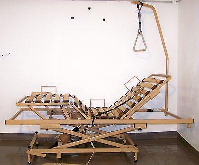 Voll elektrisches Krankenbett Pflegebett Burmeier Betteinsatz 90 x 200 cm #ei24