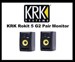 Krk Rokit Studio Monitors 5s,6s,8s Choose Your Size Single Or Pairs