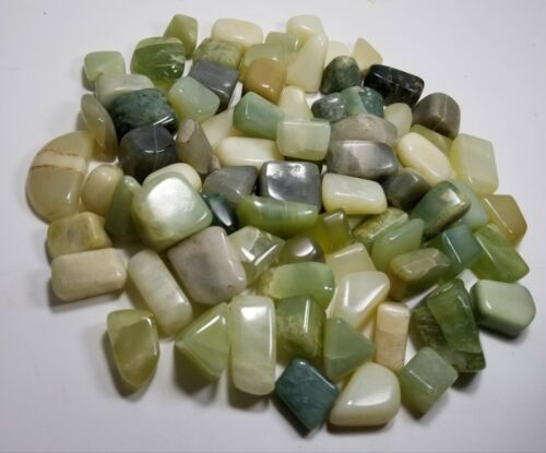 Mix color Serpentine Polished Tumblestones 960 grams
