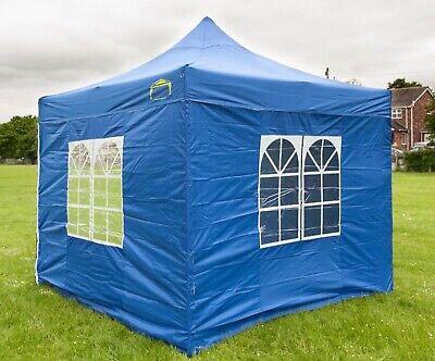 HERCULES GAZEBO® HEAVY DUTY BLUE COMMERCIAL GRADE POP UP TENT MARQUEE 3m x 3m
