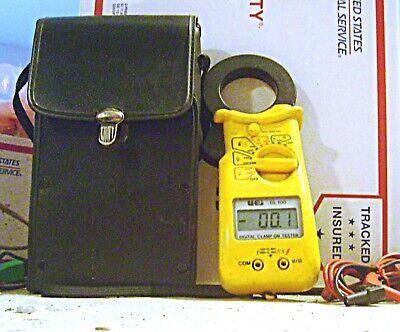Uei Dl100 Digital Multi-meter Ac-dc Volts Ohms Clamp-on Amp Meter Display